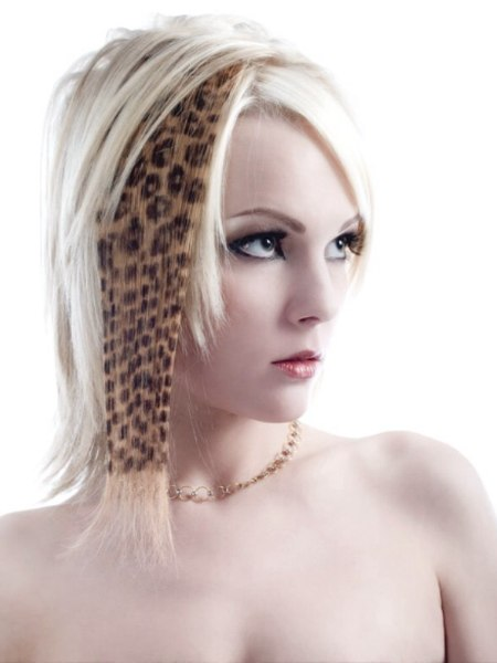 leopard hairpiece