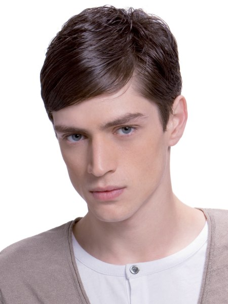 young man with slick bangs