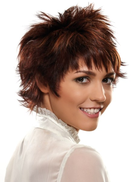 trendy short hairstyle