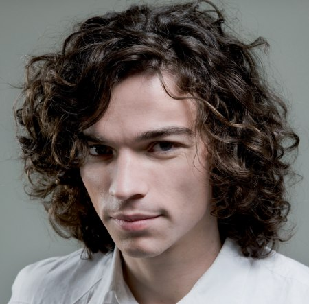 long hair style for men with curls