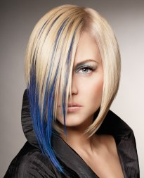 blue streaks for blonde hair