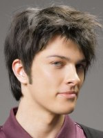 Photo of hairstyle for men with bangs