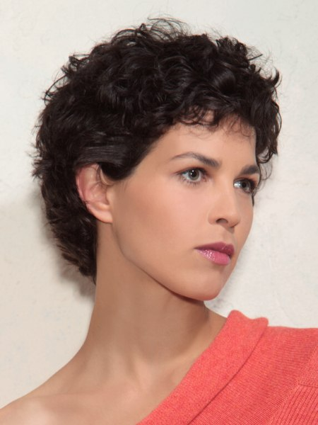 timeless style with curls for short hair