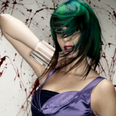 green and turquoise hair colors