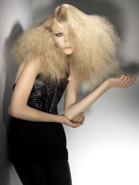 hair with crimping