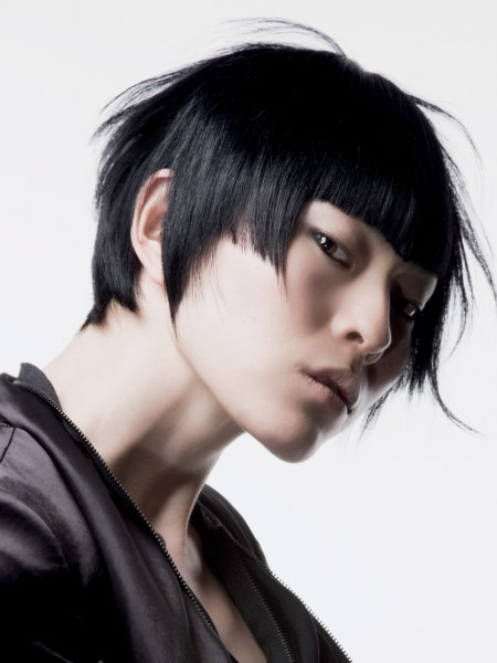 Asian graduated bob haircut