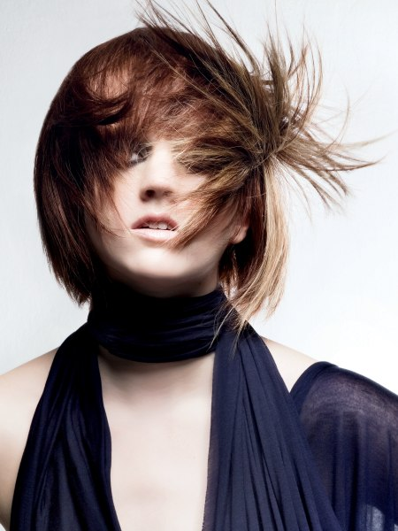 dynamic layered bob with sixties inspiration