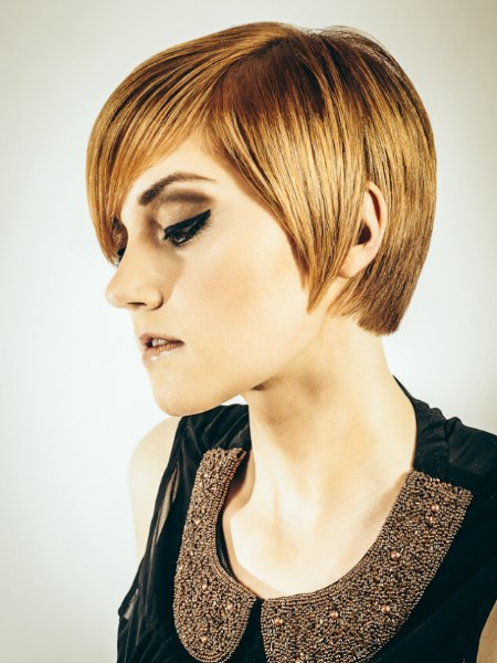 Short hair with contemporary styling