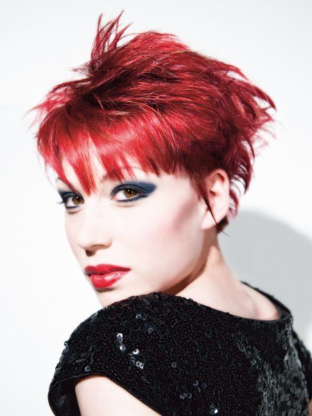 punky style for red hair