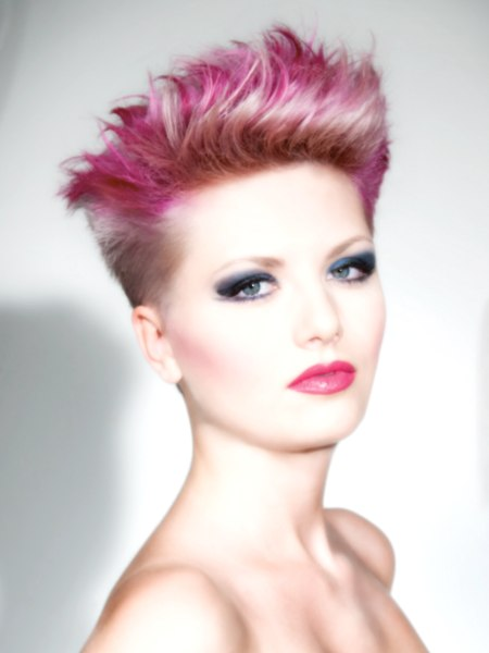 short punky hairstyle