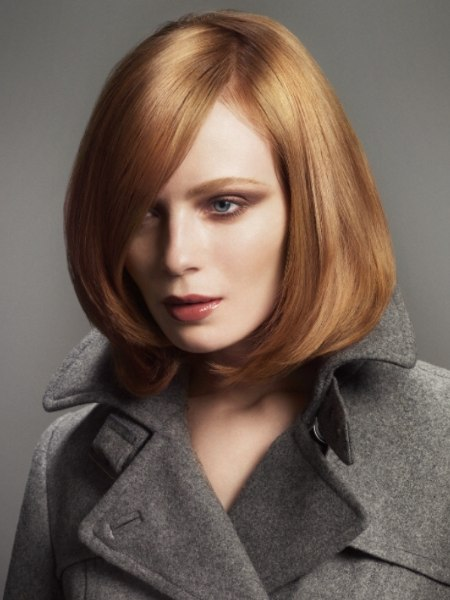 long bob that brings attention to the cheekbones