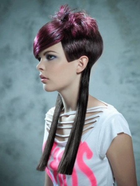 haircut with long and short lengths