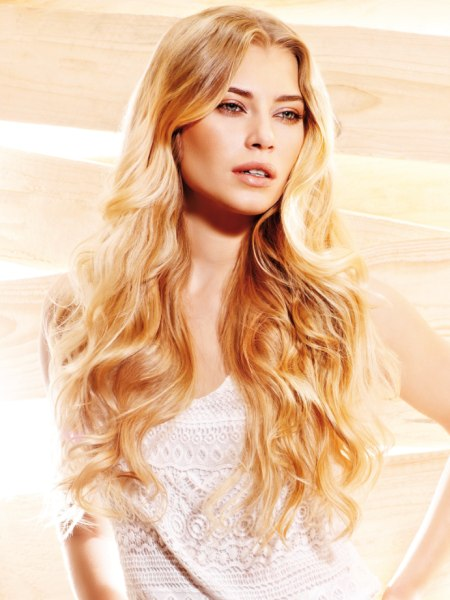 waist length blonde hair