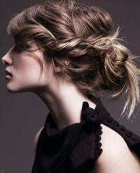 updo with loose knot