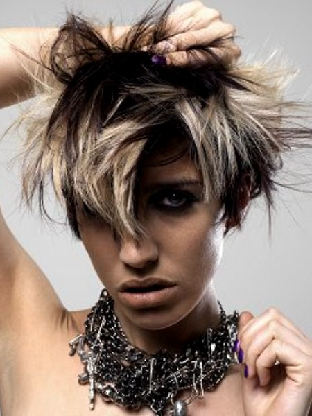 punky hairstyle