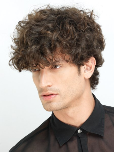 Latin style curls for men