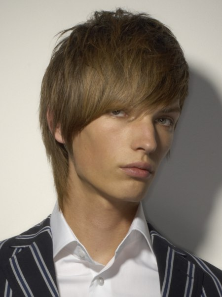 midlength mens haircut