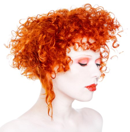red curly hair image