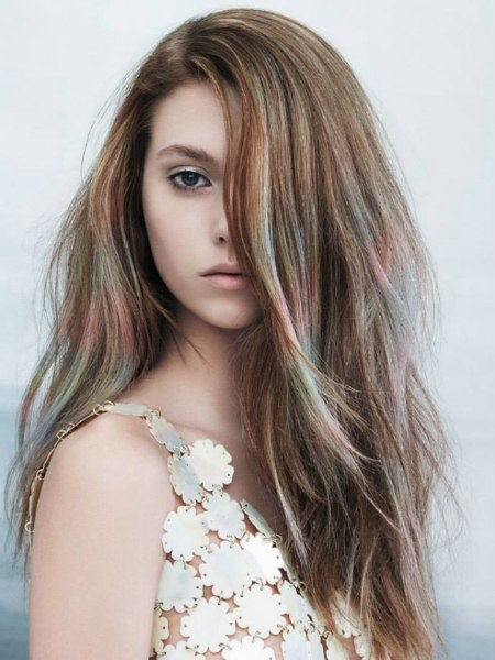 hair with sheer colors