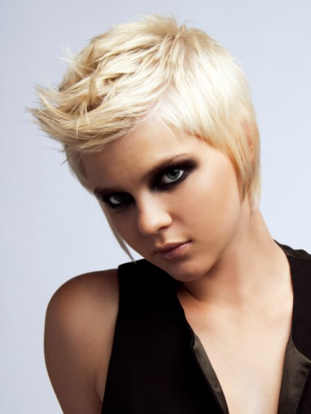 short blonde hair with spikes