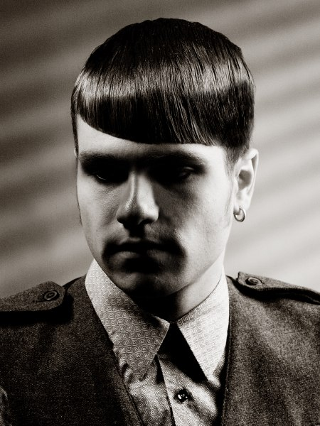 clipper-cut men's hairstyle