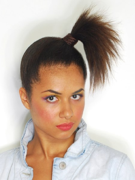 exotic updo with a ponytail