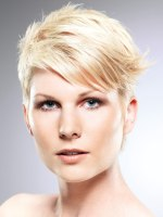 raspy styling for short blonde hair