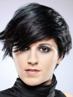 modern cut for short black hair