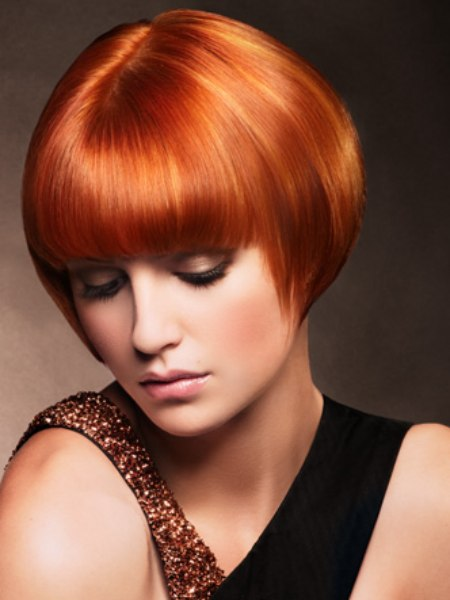 short style for red hair