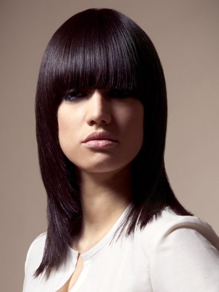sleek shoulder length bob