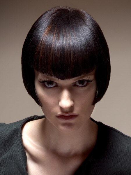 short sleek bob