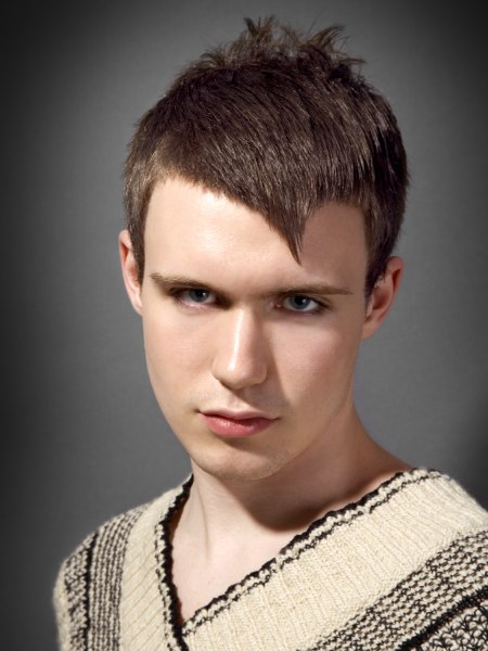 male crop haircut
