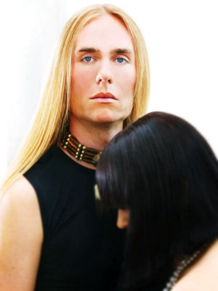 male model with long hair
