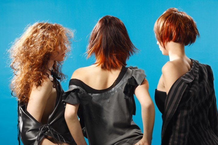rear view of hairstyles