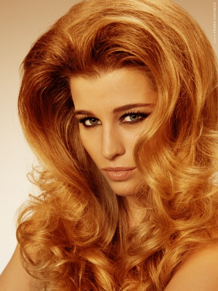 Long hair with balayage highlights for a Catherine Deneuve look