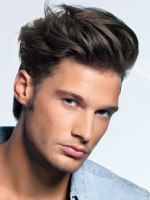 mussed male hairstyle
