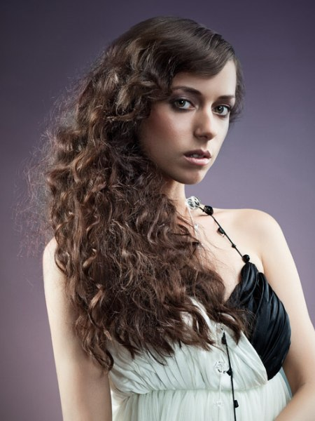 long vintage hairstyle