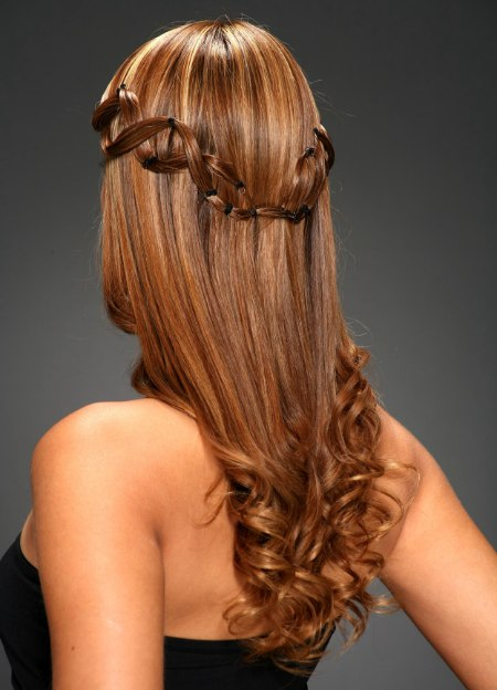 hairstyle with coronet of hair