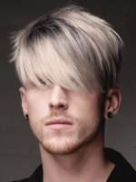 male hair with streaks