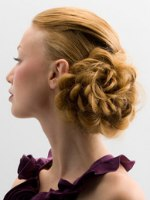 scalloped updo
