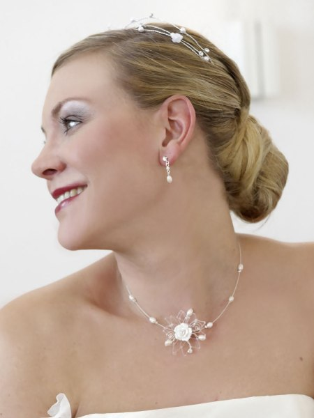 classic wedding hairstyle with a chignon