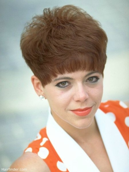 60s and 70s Short Hairstyle. nostalgic short hairstyle