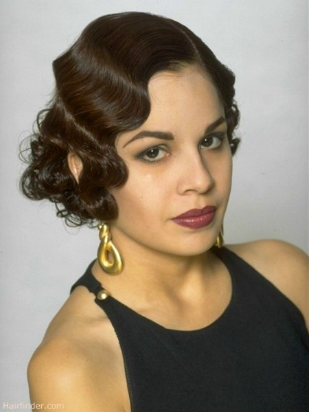Ashley Judd Short Hairstyles 1920s and 30s charleston dance era look with