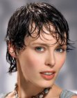 wet look for short hair