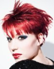punk style for red hair