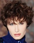 soft short hairstyle