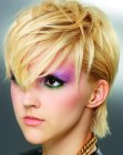 punky short hairstyle
