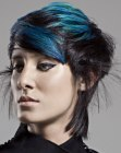 blue on black hair