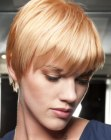 Sporty and easy to wear short haircut with bangs