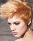 dynamic short hairstyle